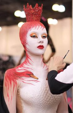 Makeup and body paint by Nelly Recchia at IMATS LA 2013.