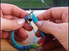 "Sock knitting tutorial on 9"" circular needles - Cast on - Part 1 - YouTube"
