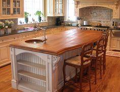 Solid Wood Countertops | Wood versus granite counter top . Granite can cost up to $50 per ...