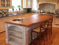Solid Wood Countertops | Wood versus granite counter top . Granite can cost up to $50 per ...