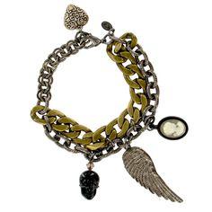 "NEVER GOODBYE ""WING SPAN"" CHARM BRACELET - Jewelry - TARINA TARANTINO"