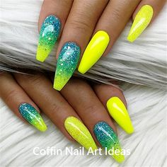 85 Winter Nail Art Design Ideas Make You Beautiful in 2019 HowAZ Part 36 . - 85 winter nail art design ideas will make you beautiful in 2019 HowAZ part 36 - Winter Nail Art, Winter Nails, Spring Nails, Winter Art, Neon Nails, Diy Nails, Summer Nails Neon, Neon Acrylic Nails, Neon Nail Art