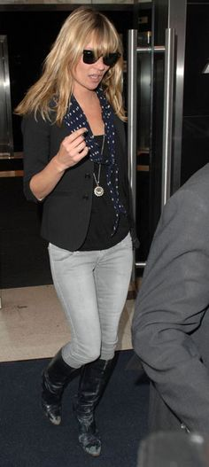 I love Kate Moss's bangs and hair here for some reason. I know it looks messy, but it looks done somehow too.
