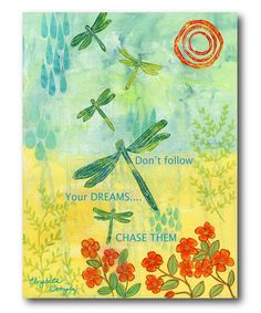 Love this Dragonfly Wrapped Canvas on #zulily! #zulilyfinds