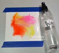 Creating water color backgrounds with distress inks. Links to 4 techniques