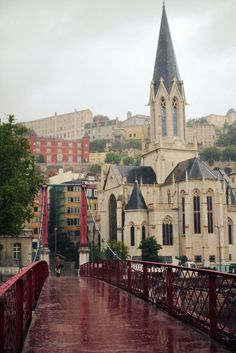 Lyon, France, tucked away at the base of the #Alps.