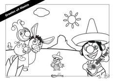 Efteling Kleurplaat Jokie Groeten uit Mexico