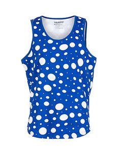 3e3b1c384d5229 TRUKFIT Tank top All-over polka dot print Lightweight material for ultimate  comfort Scoop neck.