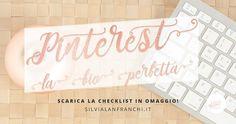 Alcuni consigli per ottimizzare la tua biografia su Pinterest, con una free checklist per ottimizzare la tua bio.