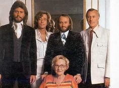 the brothers with parents Hugh and Barbara Gibb