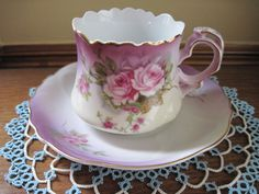 Lefton China Hand Painted Tea Cup Heavenly Rose Cup Saucer Plate Lot 2 Cups | eBay Tea Cup Saucer, Tea Cups, China Dinnerware, Vintage Table, Heavenly, Hand Painted, Plates, Rose, Tableware
