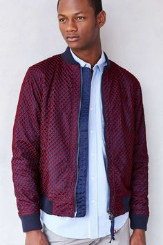 Publish Milo Open-Mesh Bomber Jacket - Urban Outfitters 32939aab4b8a