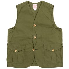 Cruiser Vest, Cotton Poplin, Olive