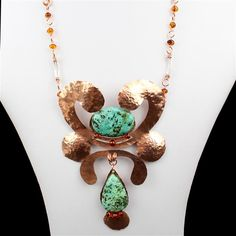 Woodland Nymph Inc; Tibetan Turquoise, Baltic Cognac Amber & Bare Copper | JewelleryMaker.com