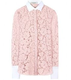 2eff18c3bf185 Valentino Chantilly lace blouse - ShopStyle Button Front