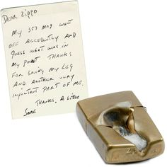 Sometimes we get really cool stuff in the mail, like this letter from Mr. Messina! What kind of accidents has your Zippo lighter survived?