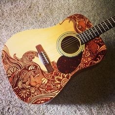 Sharpie Guitar would love to find a beat up old guitar at a flea market and do this!!