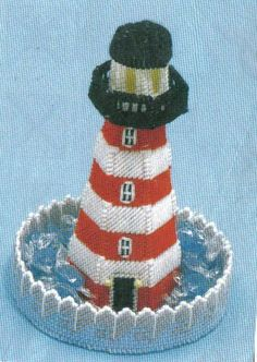 Kit / Lighthouse Candy Dish Plastic Canvas by kristineolsen