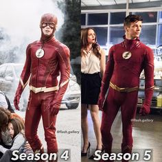 "Low key dont see why season 5 suit is ""better"" thoughts? The Flash Season 1, Flash Characters, Flash Funny, Flash Wallpaper, O Flash, Flash Barry Allen, The Flash Grant Gustin, Ride The Lightning, Snowbarry"