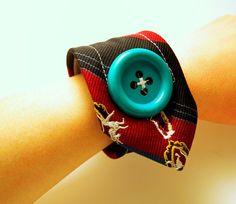 Unicorn print necktie bracelet.