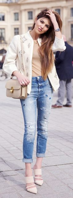 Embellished Jacket Inspiration Outfit by Negin Mirsalehi
