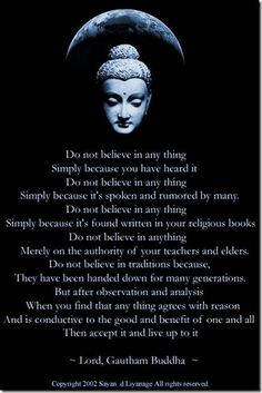 A buddhism message.