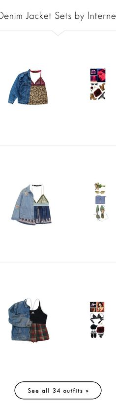"""""""Denim Jacket Sets by lnternet"""" by lnternet ❤ liked on Polyvore featuring denim, Blue, denimjacket, beoriginal, teabaq, Sonia Rykiel, Cosabella, Topshop, Levi's and Madewell"""