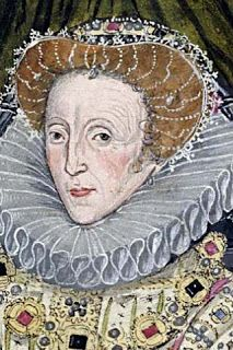 This image of Elizabeth I from a guild book of the Barber Surgeons in York was included with a copy of a speech in the Virgin Queen's own hand. Her court painters tried to make her as ageless as possible in all her official portraits so it's interesting to see her true face like this.