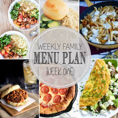 Weekly Family Menu P