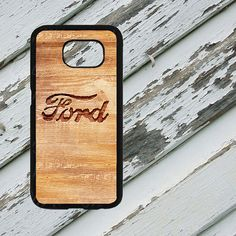 Rough Wood Engraved Ford Design on Samsung by EastCoastDyeSub