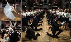 Austria's eligible young men have gone down on one knee as the debutantesprepare their steps for Vienna's annual Opera Ball which has previously been attended by Kim Kardashian.