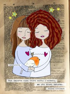 Non importa cosa trovi sotto l'albero, ma chi trovi intorno. Stephen Littleword Book Page Art, Book Art, Mother And Child Painting, Conte, Cute Illustration, Merry And Bright, Mixed Media Art, Kids And Parenting, Collage Art
