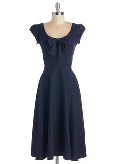 I Bow You a Dance Dress. Make good on your promises with a twirl in this denim-blue Stop Staring! #blue #modcloth