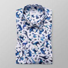 Skjorta med djurprint - Slim fit | Eton Shirts Sverige