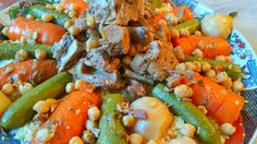 Special vriday dish Moroccan Couscous with Beef and Vegetables.
