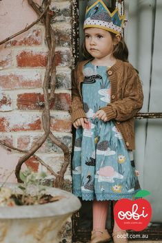 Dahlia Dress Teal Swan | Party Outfit for Girls | Oobi Girls Kid Fashion