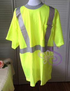 OCCUNOMIX High Visibility Reflective Work Wear Yellow T-Shirt XL LUX-SSTPC2 NEW #OCCUNOMIX
