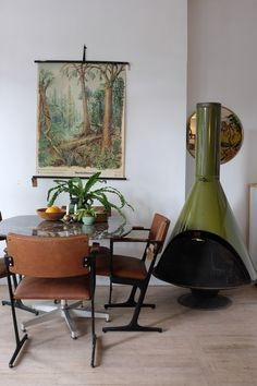 An avocado fire pit is a solid dose of 1970's charm.