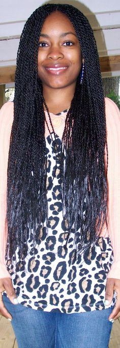 long Senegalese Twists | LOVE my new braids! But I doubt I will ever return to the shop I got ...
