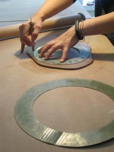 Glynnis Lessing Blog- Tutorial on how to make a slab built plate with Kip O'Krongly