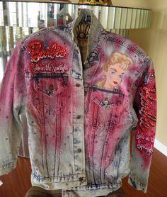Barbie Denim Jacket by Tony Alamo Rhinestone by veryfrenchbydesign