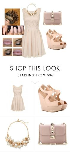 """""""Untitled #175"""" by prettypinkmingo ❤ liked on Polyvore featuring Chi Chi, The Limited, Valentino and Stila"""