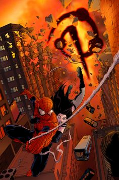 X-23 and Spider-Man by Kalman Andrasofszky *