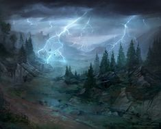 Weather-torn Valley - Lord of the Rings TCG by jcbarquet.deviantart.com on @DeviantArt