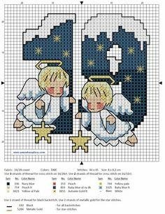 Xmas Cross Stitch, Cross Stitch Needles, Counted Cross Stitch Patterns, Cross Stitch Designs, Cross Stitching, Cross Stitch Embroidery, Cross Stitch Angels, Cross Stitch Numbers, Cross Stitch Letters