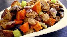 Sweet Potato, Mushroom & Veggie Stuffing