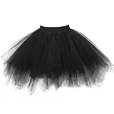 Ellames Women's Vintage 1950s Tutu Petticoat Ballet Bubble Dance Skirt Black 2XL   Special Offer: $14.60      244 Reviews Made of incredibly comfortable fabric, 1st-layered tulle, 2nd-layered satin, 3rd-layered polyester. 3 layers to hold the dress's shape, 2-layered linings to...