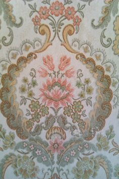 Gorgeous 1930s wallpaper we found underneath 2 layers!
