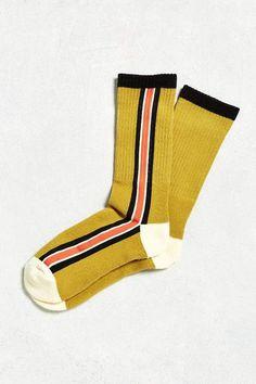Shop Vertical Stripe Sport Sock at Urban Outfitters today. Mens Striped Socks, Patterned Socks, Winter Socks, Warm Socks, Fashion Socks, Sneakers Fashion, Urban Outfitters, Basketball Socks, Basketball News