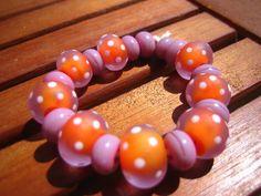 Sweetpea Lampwork Beads